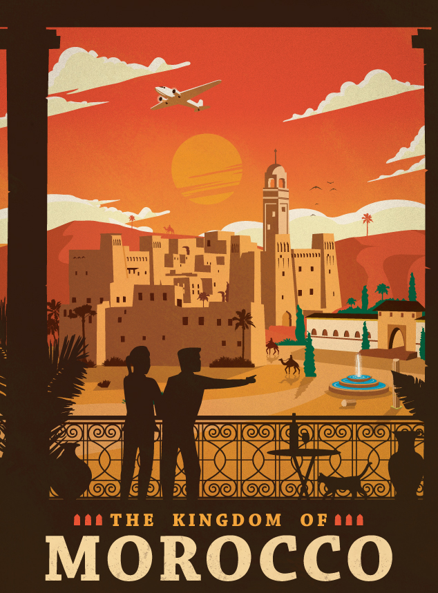 Vintage North African Posters Sahara Overland
