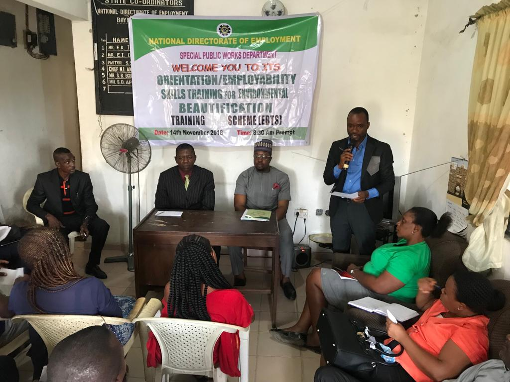 Bayelsa%20Beautification - NDE disbuses resettlement loans to 13 graduates of EBTS in Kano state