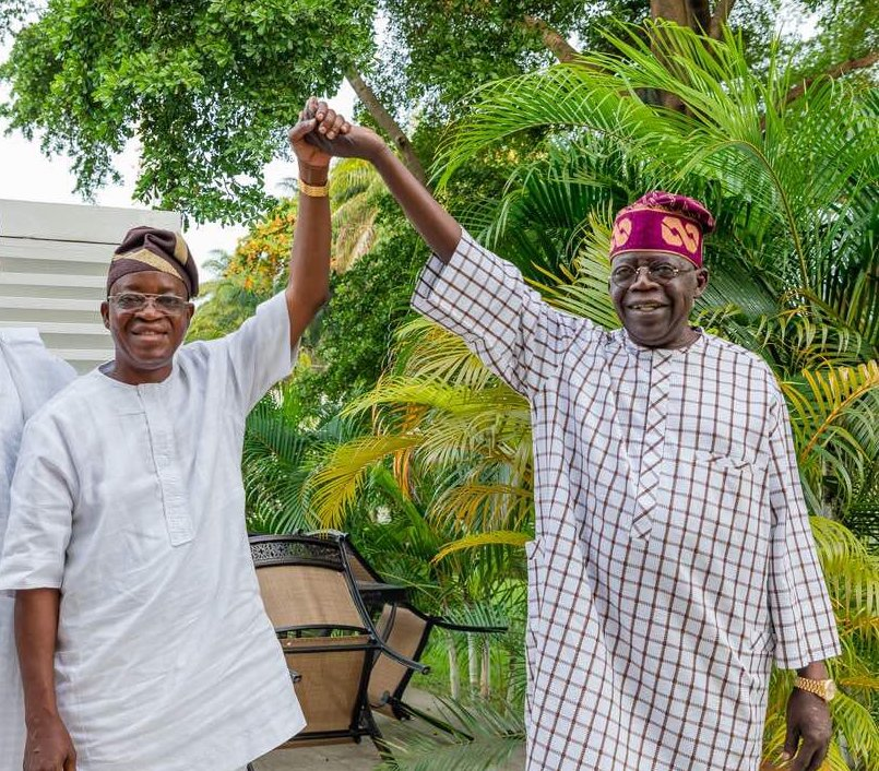 Bola Ahmed Tinubu with Adegboyega Oyetola