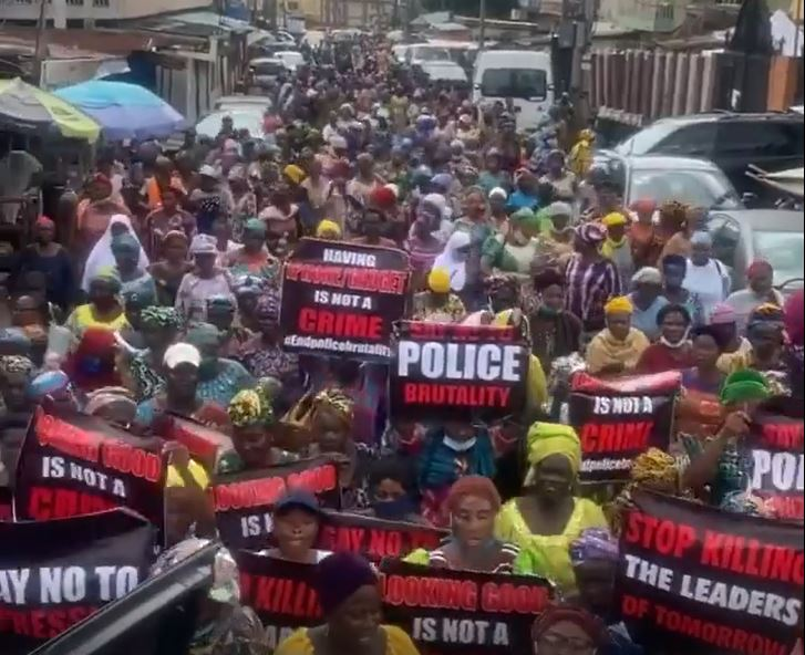 File Photo: Mothers Protest in #EndSARS
