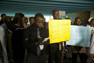 Image result for LUTH management evicts protesting resident doctors from call room