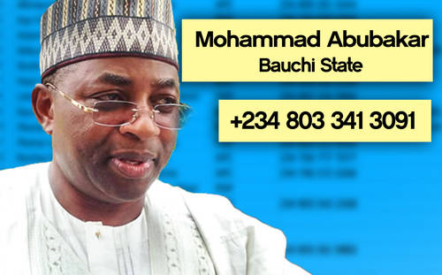 ABUBAKAR Photos: Phone numbers of Nigerian governors leaked