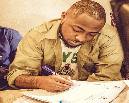 Image result for Davido in NYSC camp