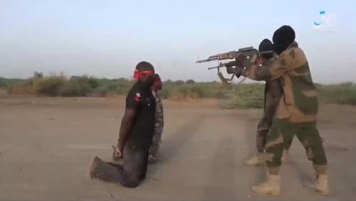 Boko Haram Releases New Video,showing the execution of a Nigerian Soldier and a Policeman (Video)