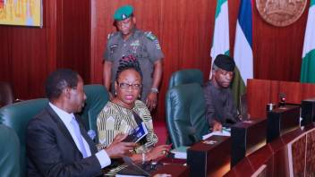 Image result for Osinbajo presides over FEC meeting