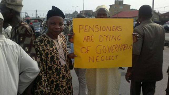 Image result for photos of osun pensioneers protesting