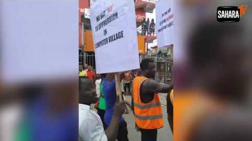 Protesters Shut Down Computer Village Over 'Backward' Plan To Install 'Iyaloja, Babaloja'
