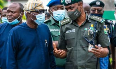 SANWO-OLU RECEIVES POLICE IG OVER COORDINATED ARSON IN LAGOS