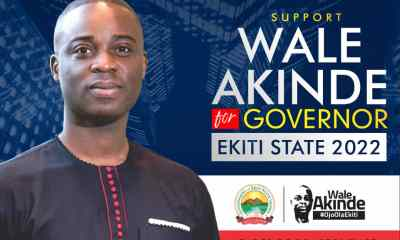 EKITI 2022:MAKING A CASE FOR A NEW FACE WITH NEW IDEAS IN STATE GOVERNANCE.- BY DEJI ADENIYI.