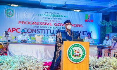 GOV. ABIODUN CALLS FOR THE RE-EVALUATION OF APC CONSTITUTION