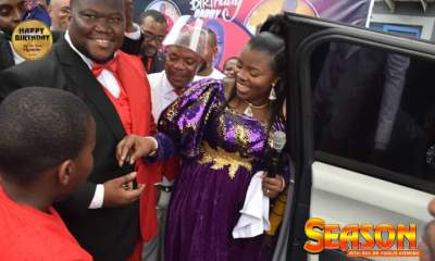 Apostle Suleman's First Son,Rev. Fidelis Gifts Poor Woman Millions, House On Birthday, Receives Brand New Range Rover From Wife, Gladys