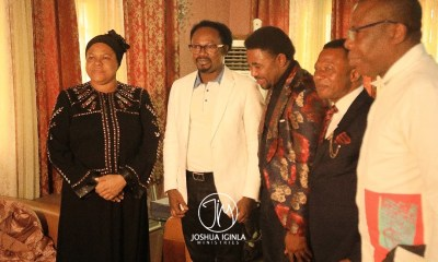 Prophet Joshua Iginla Pays Condolence Visit To Pro. TB Joshua's Wife