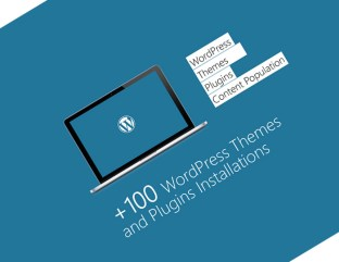 hundreds of wordpress, themes and plugins installs