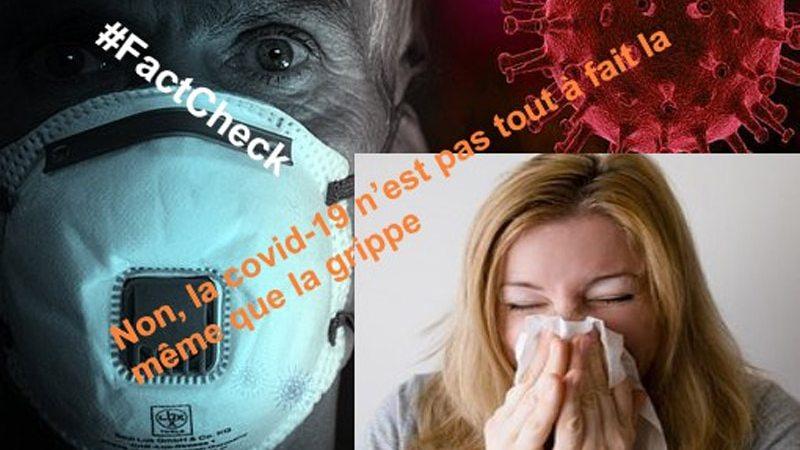 #FactCheck : non, la covid-19 n'est pas tout à fait la même que la grippe