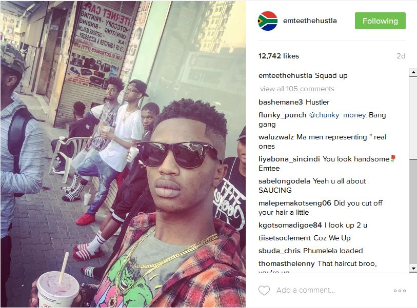 Emtee Shares Behind The Scenes Pics Of His African Trap