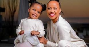 Ntando Duma and daughter rocks matching outfit on Instagram
