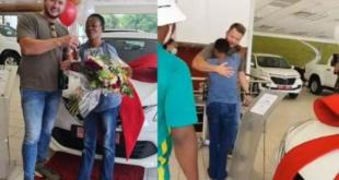 Video: Gogo Thembi's boss gifts her a new car
