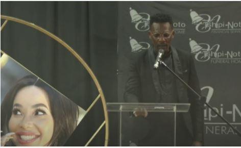 Watch: Thanduxolo Jindela pays tribute to Mshoza at memorial service