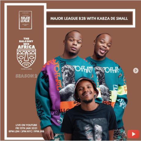 PHOTO: Kabza De Small to appear with Major League DJz on a mix