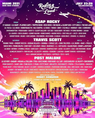 Travis Scott, Post Malone & ASAP Rocky to Headline Rolling Loud Miami 2021 Festival