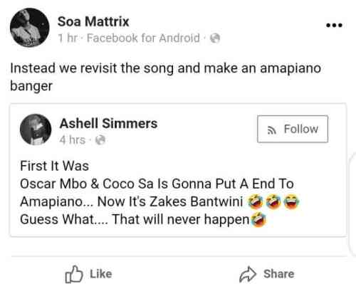 Zakes Bantwini Can't Outshine Amapiano Producers - Soa Mattrix