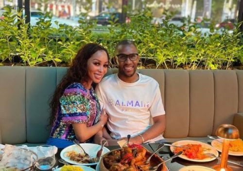 Khanyi Mbau gets spoilt by darling after showing up Dubai (Photos)