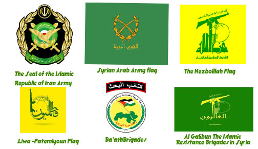 Flags And Seals Of The Armed Groups, Ally With Assad Regime İn Syria-I