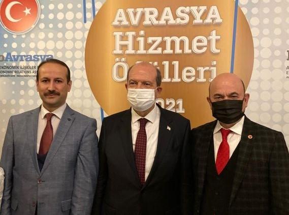 """""""AVRASYA HİZMET ÖDÜLLERİ"""" TÖRENİNE KATILDIK"""