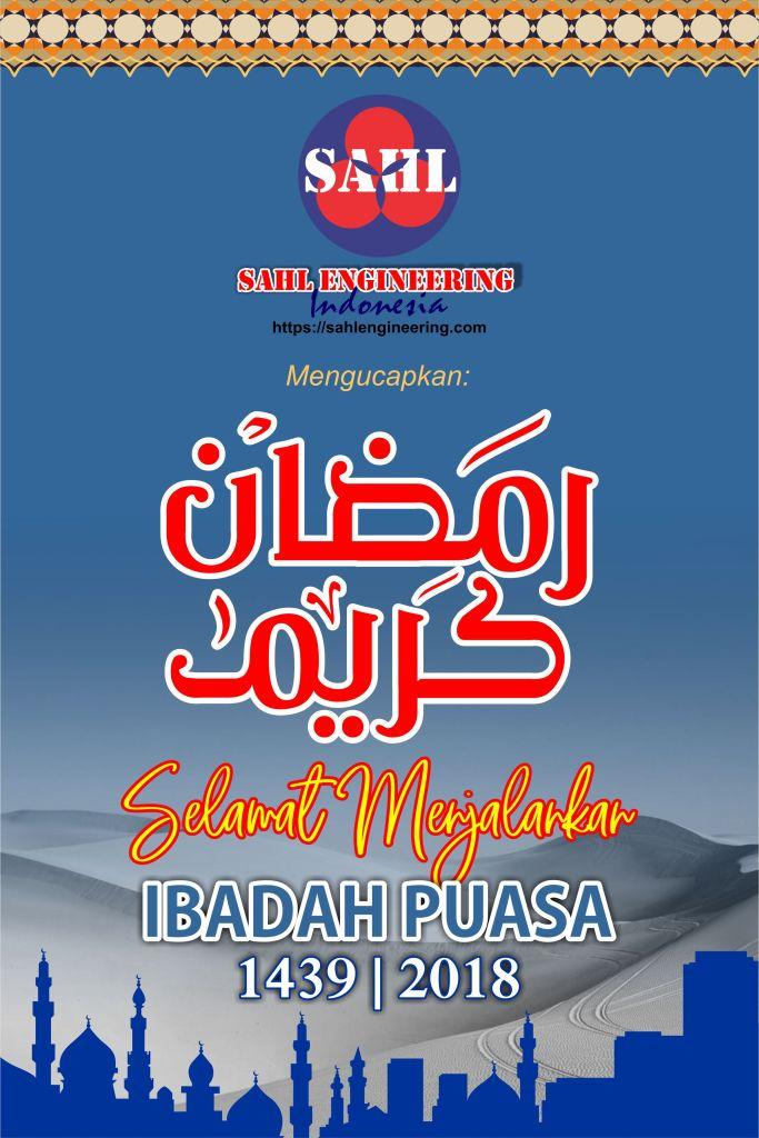 Banner Selamat Menjalankan Ibadah Puasa Ramadhan 1439 H 2018