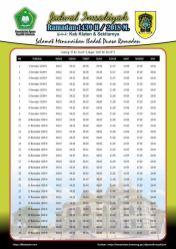Jadwal Imsakiyah 1439 Ramadan 2018 - Kab Klaten