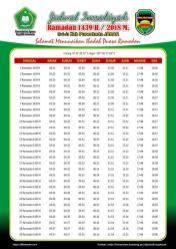 Jadwal Imsakiyah 1439 Ramadan 2018 - Kab Purwakarta JABAR