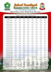 Jadwal Imsakiyah 1439 Ramadan 2018 - Kota Makassar Sulsel