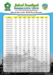Jadwal Imsakiyah 1439 Ramadan 2018 - Kota Tasikmalaya Jabar