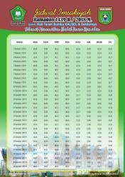 Jadwal Imsakiyah 1439 Ramadan 2018 - Tanah Bumbu - Kalimantan Selatan