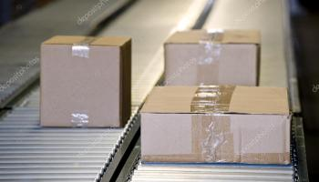 Shipping Boxes On Conveyor Belts