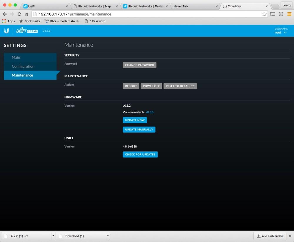 CloudKey Update First