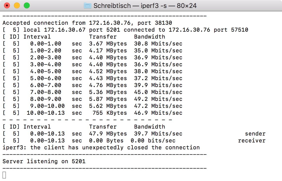 iPerf Mac Wireless