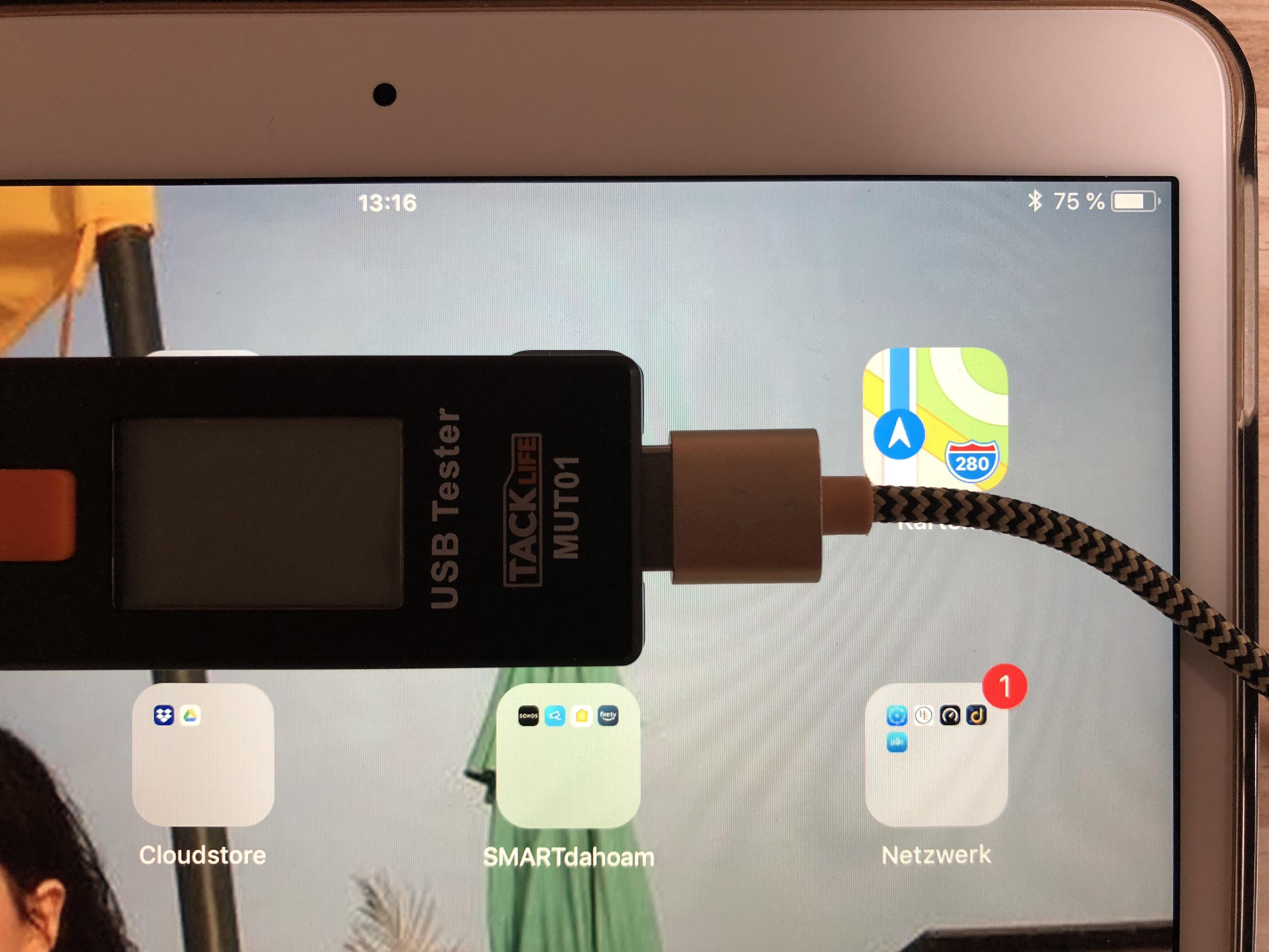 iPad Ladezustand