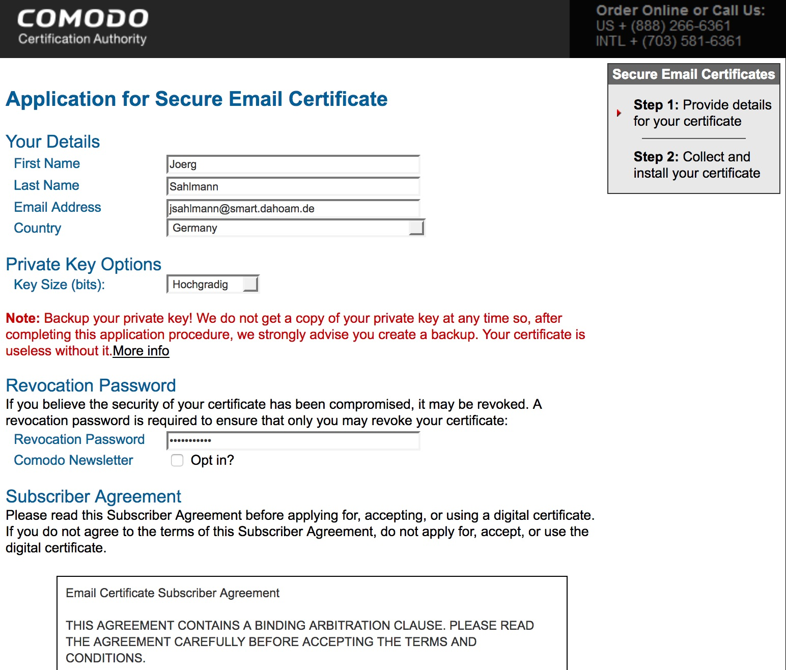 Secure_Email_Certificates_-_Application
