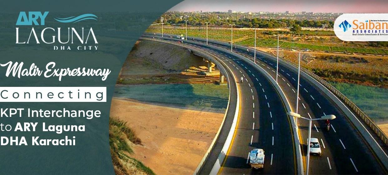 Malir Expressway Connecting DHA Karachi to KPT