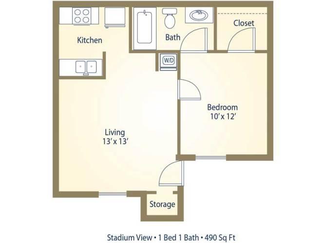 Studio Apartment Size Mendi Co