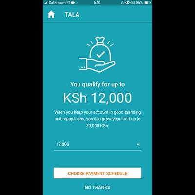 tala-app-kenya-select-payment-schedule