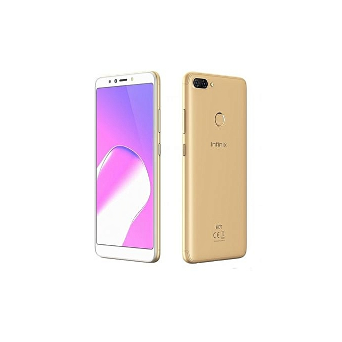 Inifinix X606D Both White Front Gold Back 16GB ROM 1GB RAM 13MP 8MP dual Camera