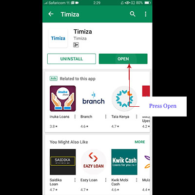 how to download timiza app timiza loan application open app