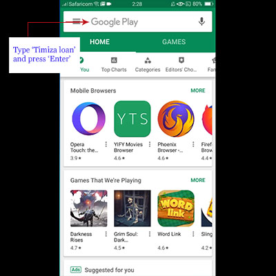 how to download timiza app timiza loan application search play store