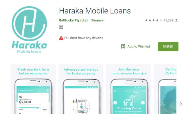 install haraka loan app haraka application form google play store