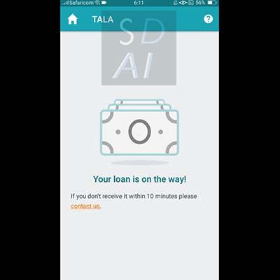 tala loan apply for tala loan tala application form your loan is on the way wait for loan