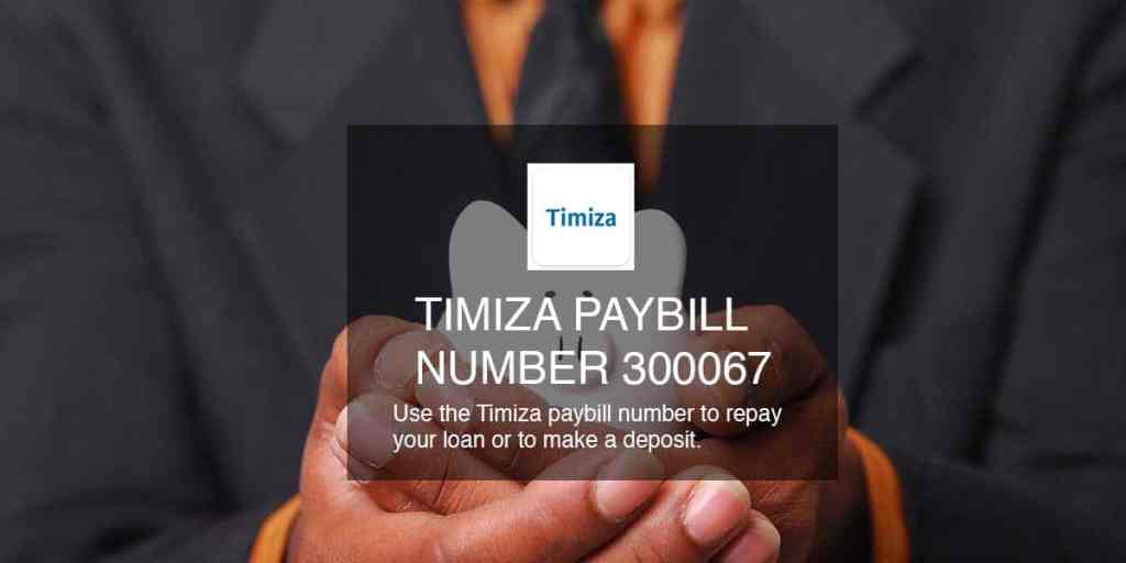 Timiza paybill number