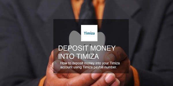 deposit money timiza account