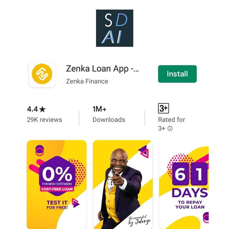 zenka app register apply qualify for a loan